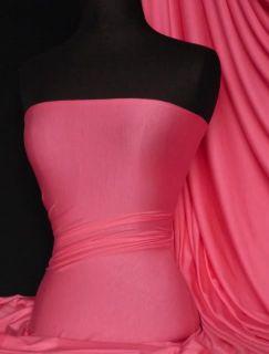Barbie Pink Viscose Cotton Stretch Lycra Fabric