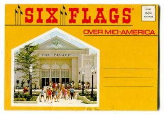 Six Flags Over Mid America St Louis Amusement Park 1970s Postcard 12 View Folder