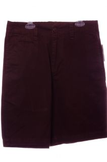Mens G M Authentic Chinos Brown Shorts Khakis 28 Waist Flat Front Boys New