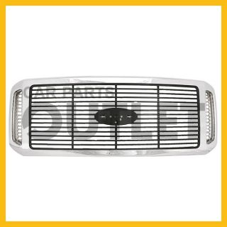 2006 2007 Ford F550 Chrome w Black Billet Grille Outlaw New Replacement Grill