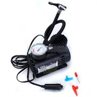 250 PSI Portable Air Compressor Car Tire Inflator 12V