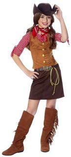 Child Gun Slinger Girl Costume Wild West Western Cowgirl Kids Gunslinger Outfit