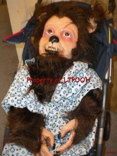 Lifesize Baby Werewolf Halloween Prop Figure Wolfman Realistic Horror