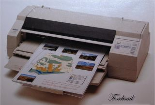 Epson 1520 Stylus Color Ink Jet Printer Large Wide Format Users Guide Cable CD 010343813328
