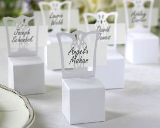 Mini Chair Place Card Holder and Wedding Favor Box