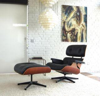 Original Vitra Charles Eames Lounge Chair Sessel Herman Miller Side Alu  Ottomane