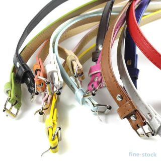 Multicolor Womens Belt Ladies Classic Faux Leather Thin Skinny Waistband Strap