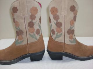 Ariat Doll Baby Boots Womens Cowboy Boots 8 M Chestnut Tan Suede 16230