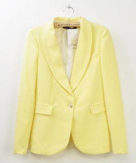 New Womens European Fall Fashion Candy Color One Button Suit Blazer 4 Color B370