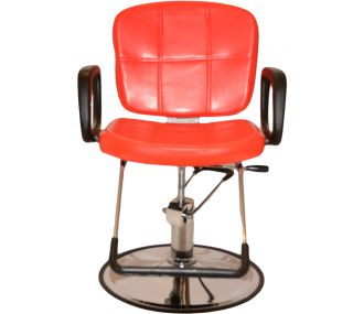 New Red Reclining Hydraulic Styling Barber Chair Shampoo Hair Salon Equipment