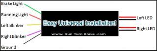 Run Turn Brake Universal Module Fits All Motorcycles for Custom Harley LED Light