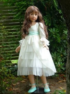"New Bo Peep Monika Levenig Masterpiece Doll 48"" Brunette Hair 11 Joints"