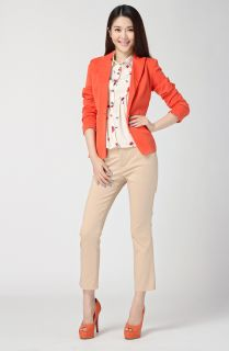 New Womens Fall Fashion Candy Colored Metal Buckle Suit Blazer 5 Colors Hot B369