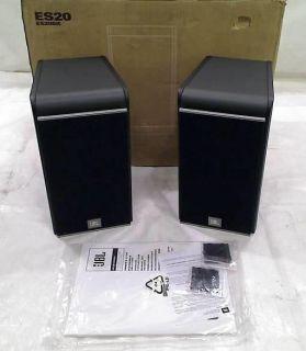 JBL ES20 High Performance 3 Way Bookshelf Speakers Black Pair 050036923019