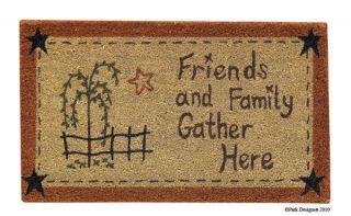 Willow Tree Friends Family Park Design Doormat Rug