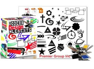 Modern Elements Vector Design Clipart for Vinyl Printers Heat Press Engraving