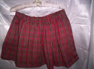 Adult Sissy Womens Mens Crossdresser Sexy School Girl Mini Skirt Red Plaid