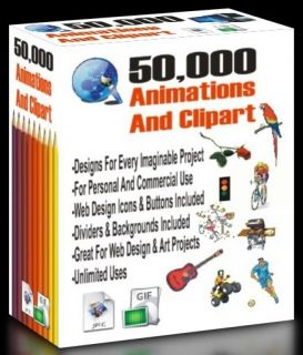 50 000 Gif Animations Clipart for Graphic Design Scrapbooks Web Design Etc