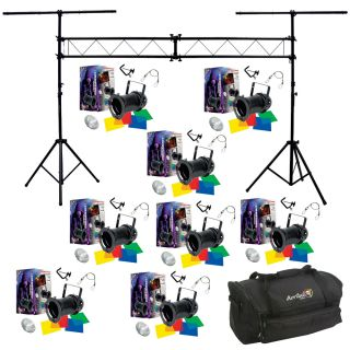 8 56 Black Combo Par Can Stage American DJ Lights Truss System Bag Package