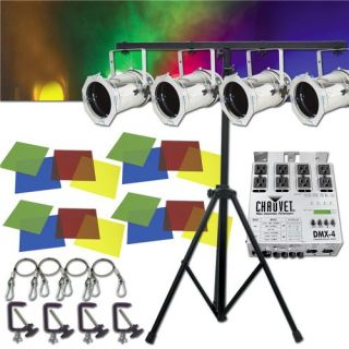 American DJ Par 56 Combo System Stage Lighting Package New