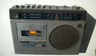 Vintage Sony CF 160 Radio Cassette Record Player Transistor Great Condition