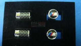 BMW M M3 M6 M6 Tech Carbon Fiber Car Wheel Tire Valve Stem Caps Dust Covers