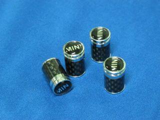 Mini Cooper R50 R53 R56 Carbon Fiber Car Wheel Tire Valve Stem Caps Dust Covers