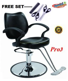 ★barber Chair Shampoo Spa Salon Styling ★with Scissors Comb SET★PRO3K
