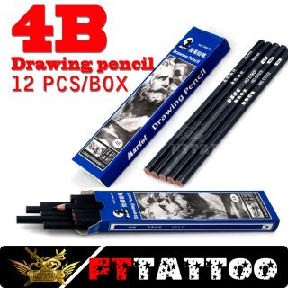 12pcs Box Tattoo Supply Transfer 4B Drawing Pencil Marker