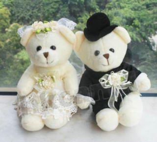 30 cm Couple of Teddy Bear Stuffed Animals Soft Toys Wedding Gifts 2 Lovey