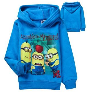 Cut Kids Boys Girls Minions Despicable Me Long Sleeve Thick Hoodie Aged 2 8years