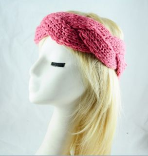 New Headband Women Knitted Headband Knit Headwrap Beanie Ear Warmer Turban Bow