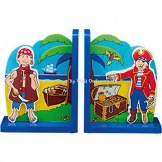 Lanka Kade Fairtrade Pirate Treasure Bookends Childrens Wooden Pirates Room