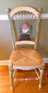 Mackenzie Childs Flower Basket Chair 1 Vintage Victoria and Richard