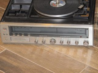 Vintage Magnavox Record Player 8 Track Player and Am FM Radio Receiver