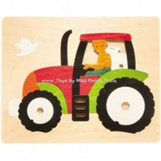 George Luck Transports of Delight Modern Tractor Jigsaw Puzzle Wooden Toy
