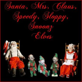 Santa Claus Mrs Claus and His Elves The Ultimate Christmas Display