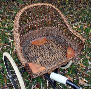 1928 Rochet Wicker Chair Tricycle Very RARE French Vintage Bicycle Antique Trike