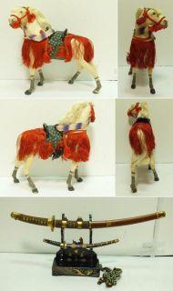 ★☆★japan Japanese Meiji Samurai General Warrior Gofun Ningyo Hina Doll ★☆★