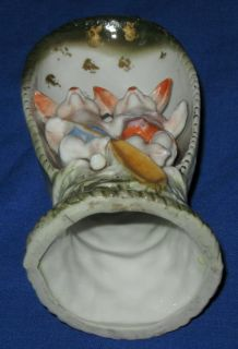 Antique Large German Double Pig Hog Bisque Porcelain Fairing Ornament C1900s