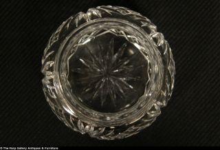 Art Nouveau Antique 1900 Sterling Silver El Flowers Cut Glass Boudoir Jar