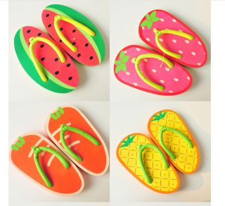 2013 Summer New Lady Anti Skidding Lovely Fruit Design Flip Flops Beach Sandal