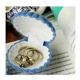New Special Shell Shape Jewelry Case Unique Ring Gift Box