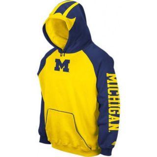 Michigan Wolverines Adidas Football Helmet Hoodie Hooded Sweatshirt