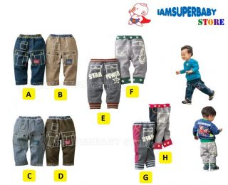 2012 Winter Design Baby Kid Boy Girl Stylish Jean Denim Pants Age 1 5 Year Old