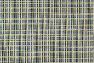 Waverly Fabric Hadley Plaid Nordic Blue and Gold Plaid Upholstery Fabric