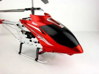 "New Red Big 24"" Syma S031G Jumbo Metal Dragon Gyro Helicopter RC Remote Control"