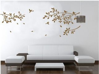 Home Decor Decals Vinyl Art Wall Stickers Removable Tree Branches Birds Hot Sold