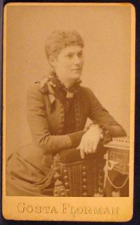 CDV Photo Pretty Woman by Florman Stockholm Sweden 1870s