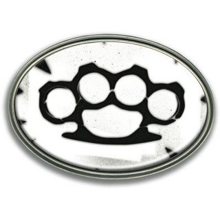 Retro A Go Go Brass Knuckles Retro Belt Buckle Knuckle Duster Vintage